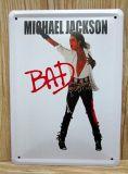 "Знак логоса металла сбор винограда металлопластинчатый с «Майкл Джексон """