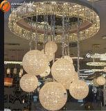 Lampadario a bracci proiettivo del grande grande hotel di lusso del lampadario a bracci del lampadario a bracci del soffitto