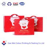 2016年のOEMのカスタムクリスマスのギフトによって印刷される買物をする紙袋