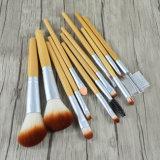12 parties en bois solide de traitement de cheveu synthétique de balai professionnel de renivellement