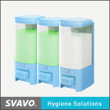 Стена Mount Soap Dispenser с Three Transparent Tank (V-8103)