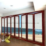 Дверь складчатости Bi- конструкции добра высокого качества алюминиевая для виллы (FT-D75)