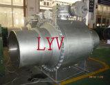 Valvola a sfera saldata grande formato dell'acciaio inossidabile dell'estremità