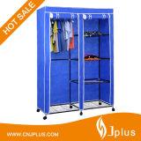 De goedkope Draagbare Garderobe van de Stof van de Garderobe van de Slaapkamer van de Prijs Vouwbare niet Geweven in Voorraad JP-125fabw