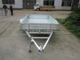 Reboque galvanizado mergulhado quente da caixa com gaiola removível