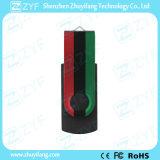Neues Schwarz-Schwenker USB-Laufwerk des Entwurfs-2016 mit kundenspezifischem farbenreichem Druck (ZYF1813)
