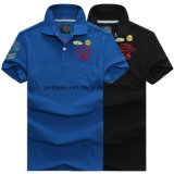 New Design Skinny Printing Men Polo Camisa bordada de roupas esportivas
