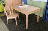 Laca desobstruída UV moderna da madeira contínua que janta a cadeira (AD-FA-W801-CY)
