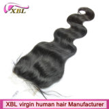 Knots Bleached Brazilian Human Hair Virgin Lace Closure