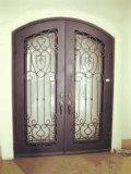 Beste auserlesene doppelte handgemachte geschmiedete Tür-Auslegung-bearbeitete Türen