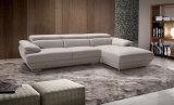 Più nuovo sofà del cuoio dell'angolo del salone di disegno moderno (HC2062)