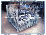 Gabbia accatastabile d'acciaio della farfalla del contenitore di memoria del pallet della rete metallica