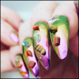 Порошки украшения ногтя хамелеона зеркала крома