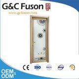 Porte en aluminium intérieure de cuisine de tissu pour rideaux de Foshan
