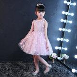 Изготовления платья девушки высокого качества розовые