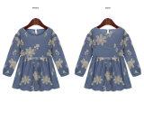 Gedruckte Baumwolhalbe Hülsen-Dame Skirt