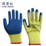 しわの乳液が付いている10g T/Cヤーンの安全手袋は塗った
