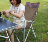 옥외 고급 알루미늄 휴대용 단 하나 점심 간편 의자, 백레스트 비치용 의자 접는 의자