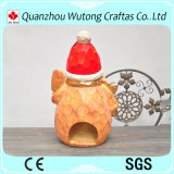 Sostenedor del palillo de la vela del diseño del hombre de la nieve de los artes de la Navidad de la resina para la decoración al aire libre