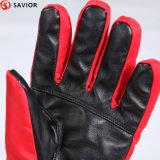 冬暖かいPU革電池の熱くする手袋