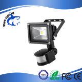 der Bewegungs-10W Flutlicht Fühler-der Sicherheits-LED