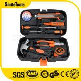 Kit de herramienta casero de la reparación de los mecánicos con la caja de herramientas plástica