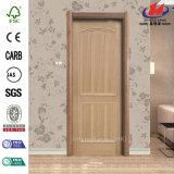Piel de madera interior No-Pintada ecológica de la puerta de la melamina (JHK-MN08)