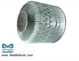 Borrar el alto disipador de calor anodizado de la luz LED de la bahía para el módulo 200W (HibayLED-265130) del LED