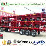 Heet verkoop Aanhangwagen van de Container van 3 Assen Flatbed Semi met Certificaten