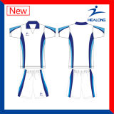Healong Designer Dye Sublimation Conjoined Soccer Football Uniforms Shirts
