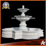 Ornamento de mármol de talla de piedra del jardín de la fuente de agua de la escultura