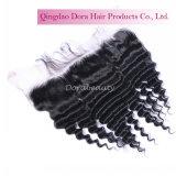 高品質の毛の卸売のインドのレースのFrontal