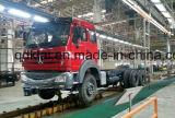 Cabeça resistente do caminhão do trator de Beiben dos caminhões com o Semitrailer para África