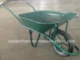Wheelbarrow resistente do jardim com a roda do sólido de 15 polegadas