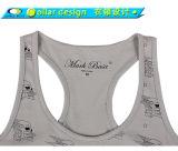 Form-volles Drucken-Frauen-Eignung-Gymnastik-Trägershirt