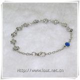 L'alliage neuf de modèle perle le bracelet de rosaire avec le pendant en travers (IO-CB132)