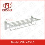 Wall Mounted réglable Stainless Steel Towel Rack avec Hook