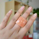 Grande commercio all'ingrosso della Cina degli anelli di fidanzamento di Fastness dell'albicocca di modo quadrato della resina
