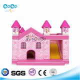 Bouncer do tema da casa da cor-de-rosa do projeto de Cocowater/corrediça infláveis LG9021