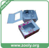Rectángulo de regalo de empaquetado de papel plegable del almacenaje de la pequeña cartulina rígida