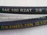 Boyau hydraulique en caoutchouc de boyau de boyau à haute pression de SAE 100r2at