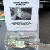 동물 (BTR-Y1032)를 위한 도매 기부금 돈 상자