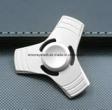 Nuevo tri juguete de aluminio del dedo de la persona agitada del hilandero de la mano del metal