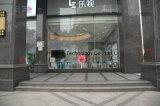 Binnen LEIDENE van de Reclame Vertoning voor het Venster van het Glas in Winkelcomplex
