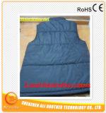 L (tamanho europeu) colore a veste aquecida do Li-Polímero bateria esperta preta