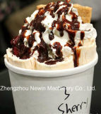 40cm 가장 싼 정연한 팬 얼음 팬 튀김 아이스크림 기계