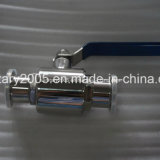 "2 "" Food Medical Industry를 위한 PTFE Encapsulated 세 배 Clamp Ball Valve"