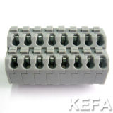 PWB Screwless Terminal Block Connector Dual Row 300V 10A 22-18awg