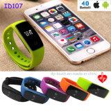 Attività di forma fisica che segue il braccialetto astuto di Bluetooth con la frequenza cardiaca (ID107)