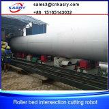 Tubería de acero que dirige el cortador del perfil del tubo del CNC del plasma del gas del diámetro grande